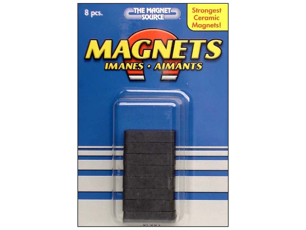 Ceramic Block Magnets 3 16 X 1 4 X 7 8 In 8 Pc