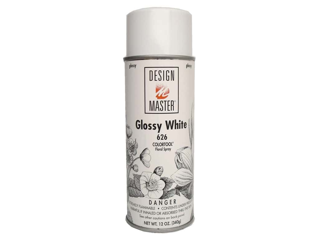Design Master Colortool Spray Paint 12 oz. #626 Glossy White