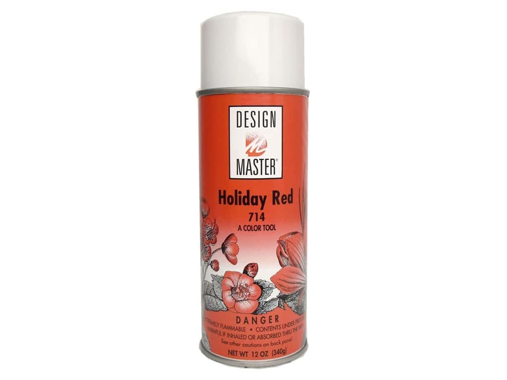 Design Master Colortool Spray Paint 12 oz. #714 Holiday Red