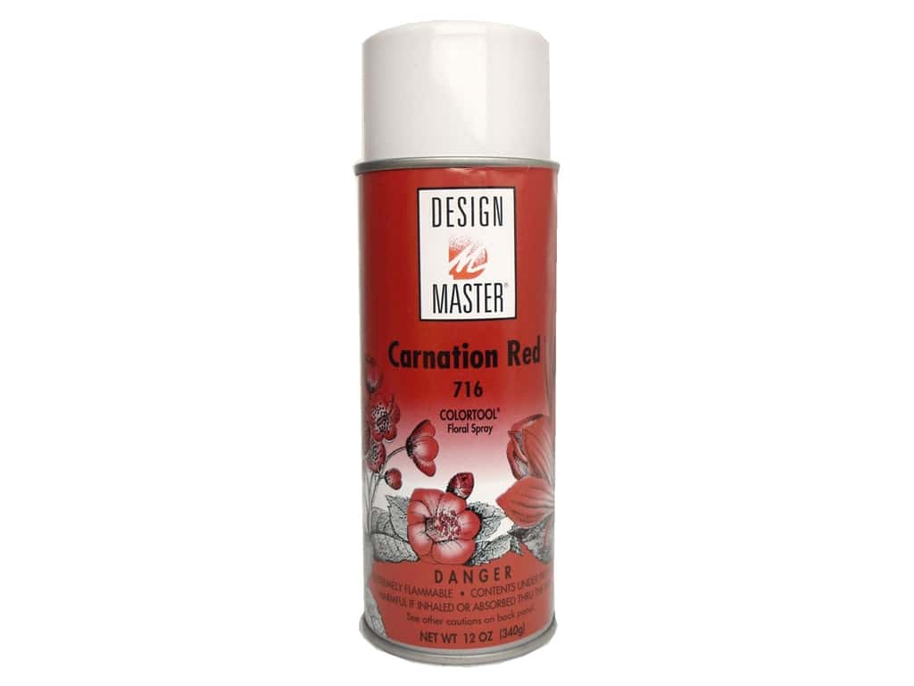 Design Master Colortool Spray Paint 12 oz. #716 Carnation Red