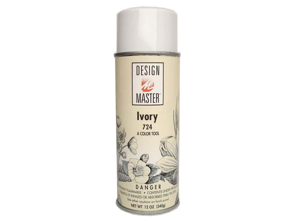 Design Master Colortool Spray Paint #724 Ivory 12 oz.