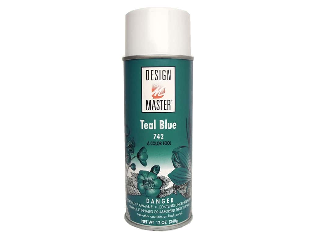 Design Master Colortool Spray Paint 12 oz. #742 Teal Blue