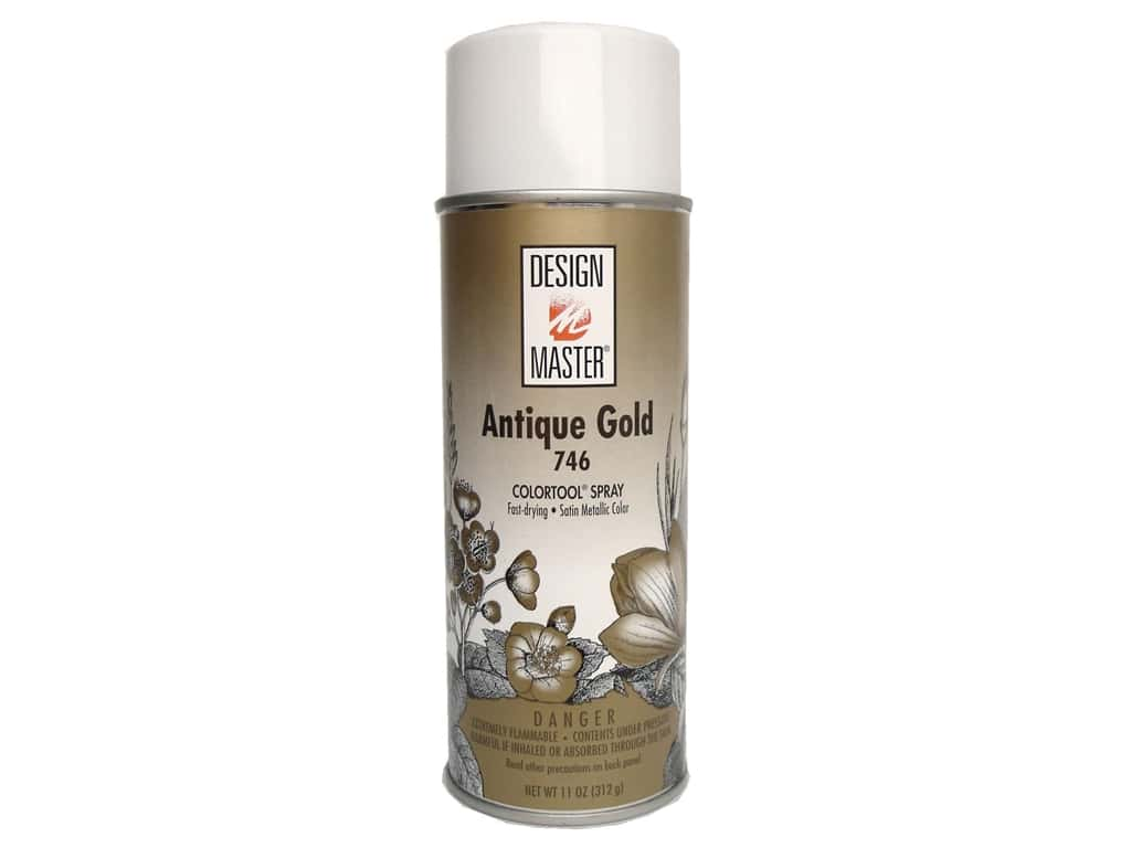 Design Master Colortool Spray Paint #746 Antique Gold 12 oz.