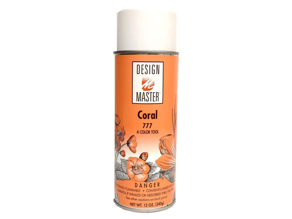 Design Master Colortool Spray Paint 12 oz. #777 Coral