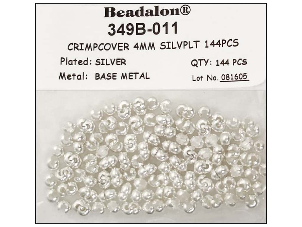 Beadalon Crimp Covers 4 mm Silver 144 pc.