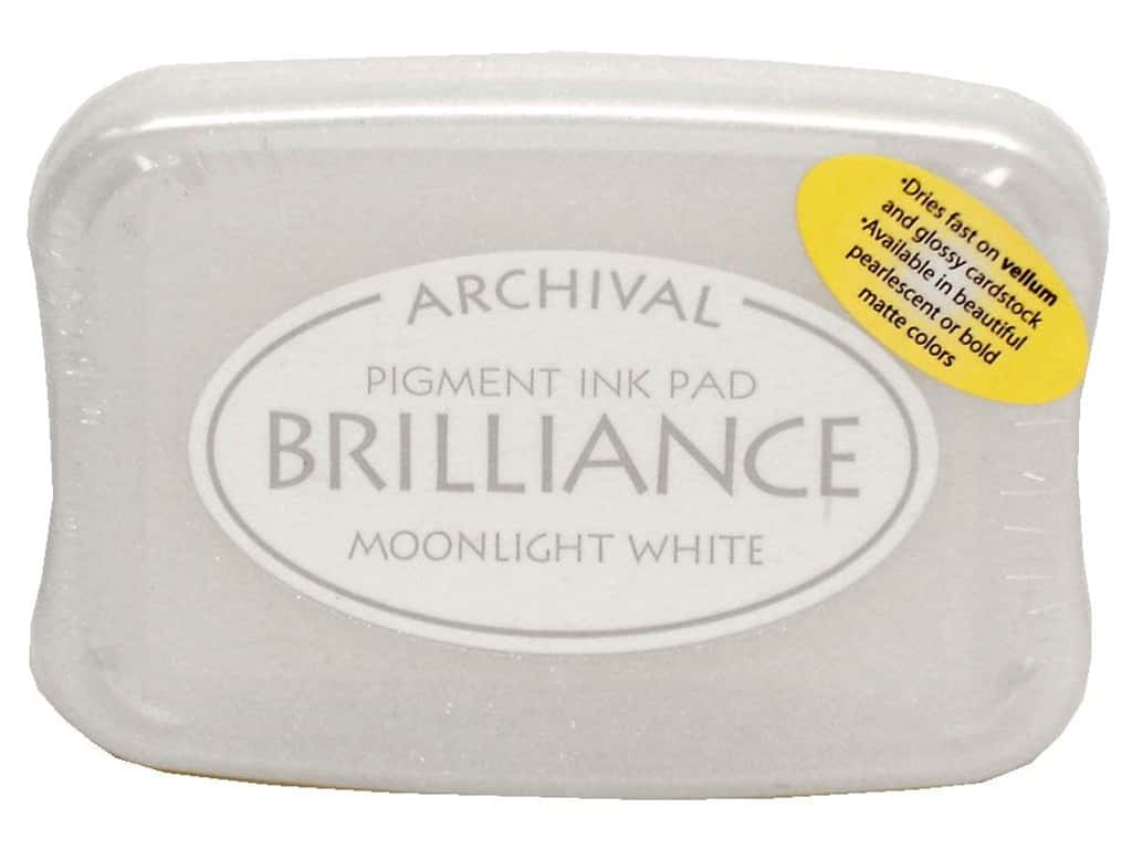 Tsukineko Brilliance Large Craft Stamp Pad Moonlight White