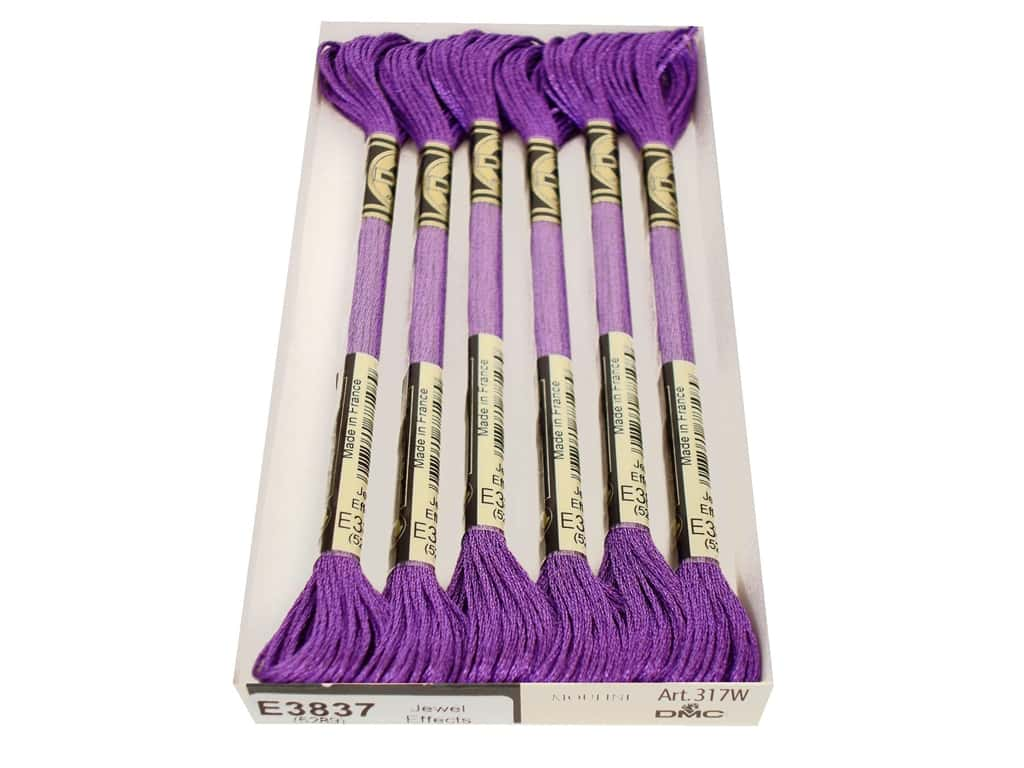 DMC Light Effects Embroidery Floss 8.7 yd. #3837 Jewel Effects Purple Ruby (6 skeins)
