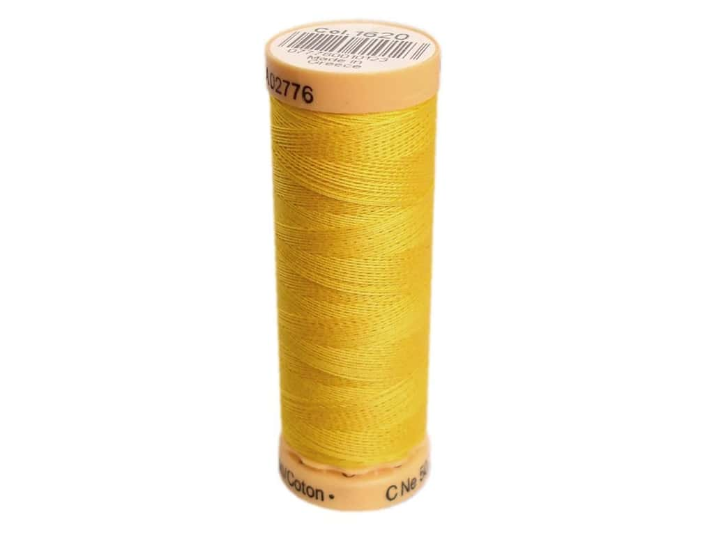 Gutermann 100% Natural Cotton Sewing Thread 109 yd. #1620 Bright Yellow