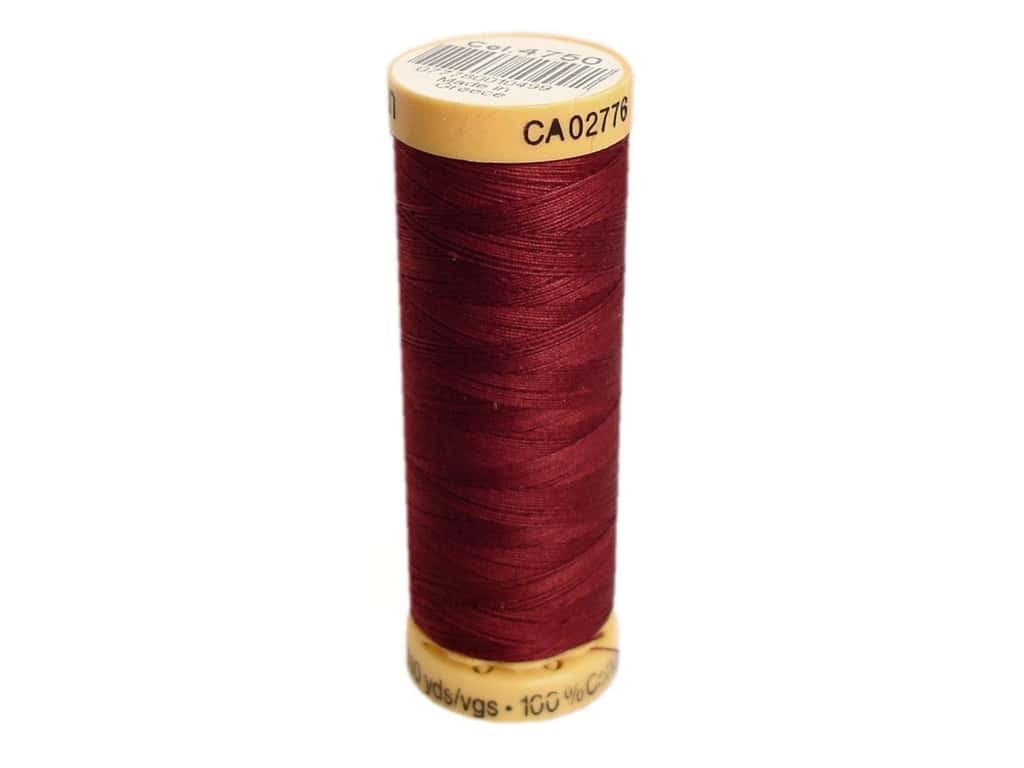Gutermann 100% Natural Cotton Sewing Thread 109 yd. #4750 Dark Mahogany