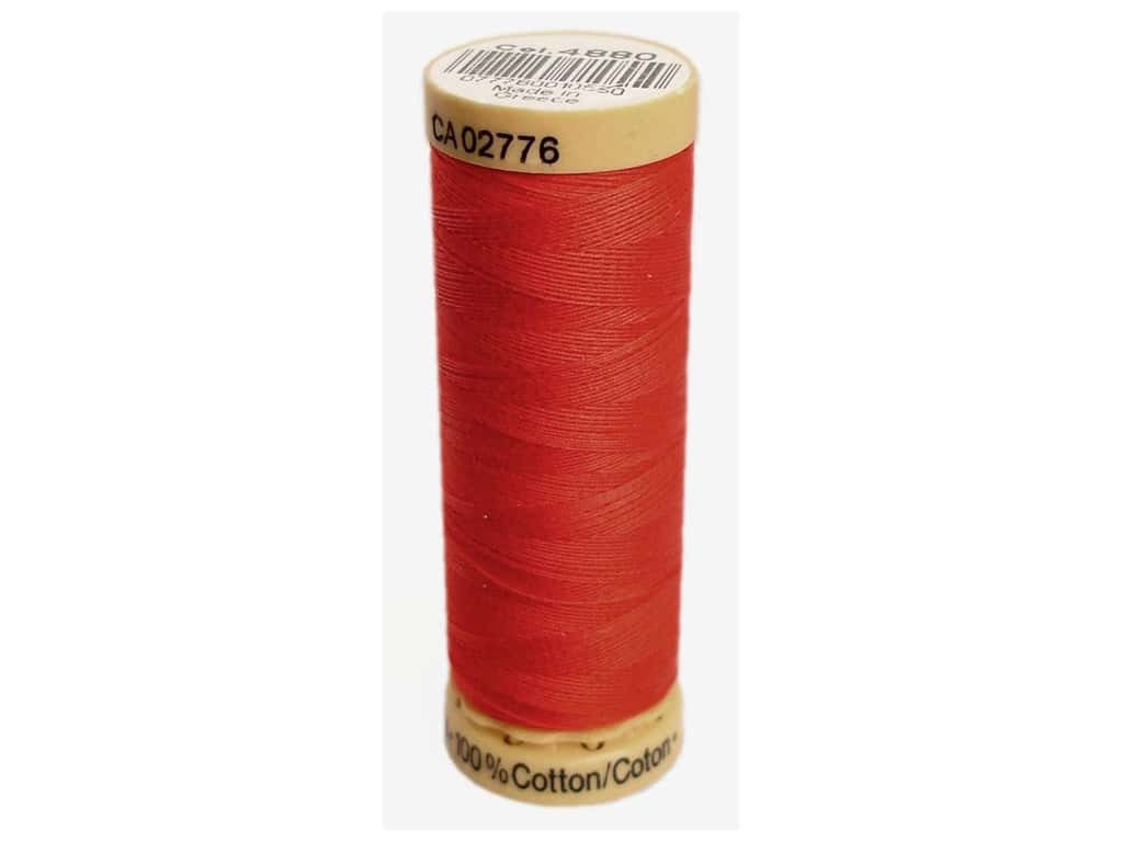 Gutermann 100% Natural Cotton Sewing Thread 109 yd. #4880 Bright Red