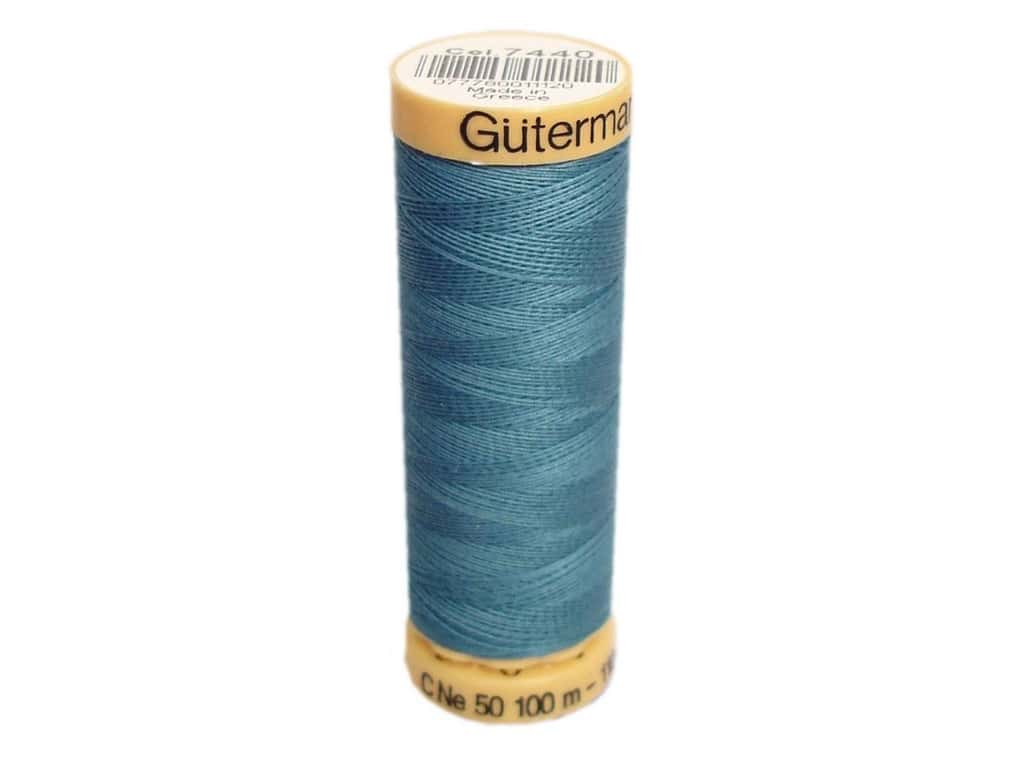 Gutermann 100% Natural Cotton Sewing Thread 109 yd. #7440 Medium Blue Sky