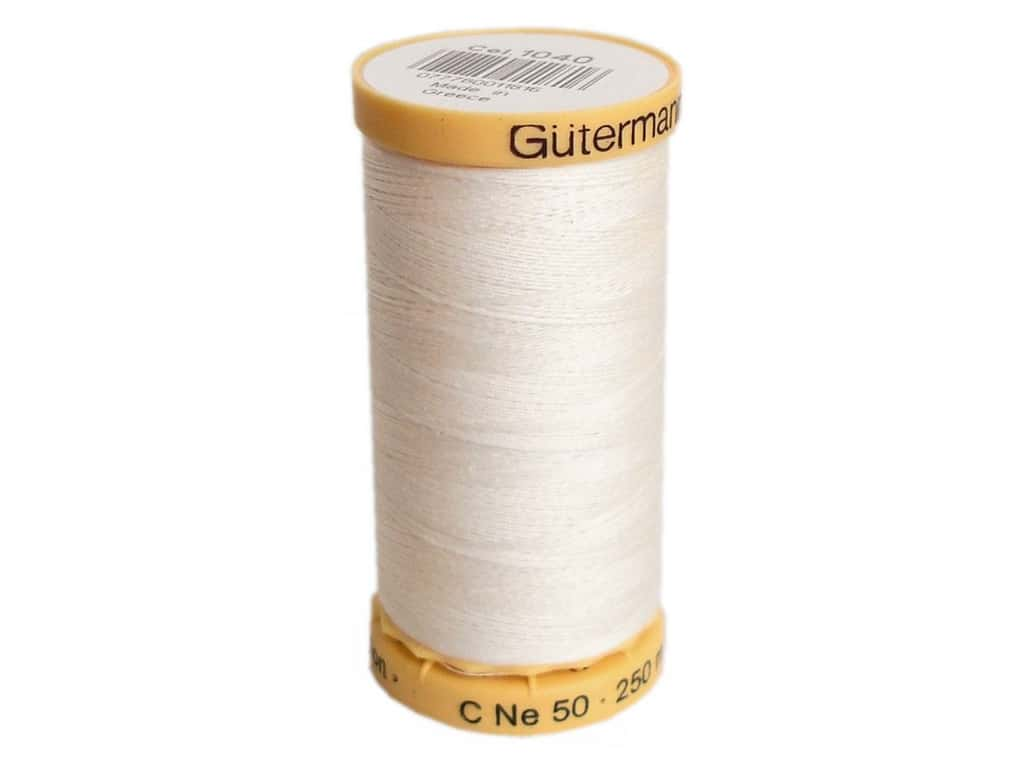 Gutermann 100% Natural Cotton Sewing Thread 273 yd. #1040 Ecru