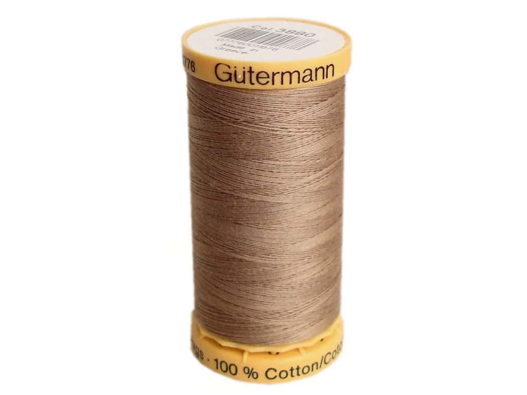 Gutermann 100% Natural Cotton Sewing Thread 273 yd. #3880 Light Brown