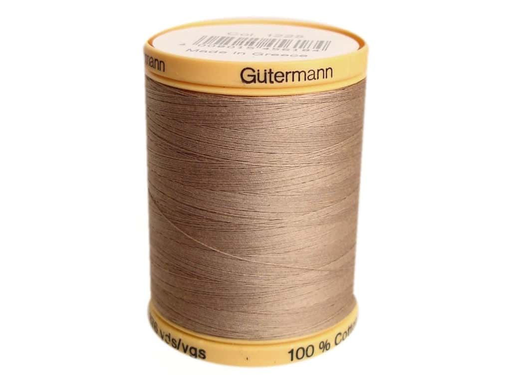 Gutermann 100% Natural Cotton Sewing Thread 875 yd. #1225 Taupe