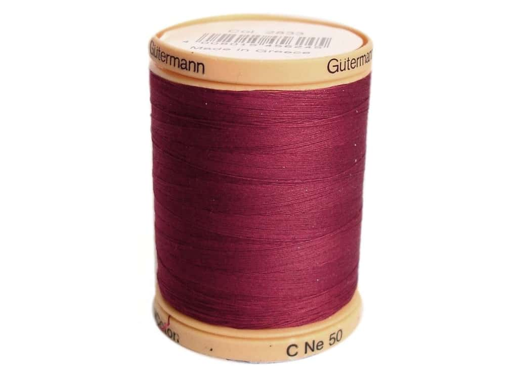 Gutermann 100% Natural Cotton Sewing Thread 875 yd. #2833 Burgundy