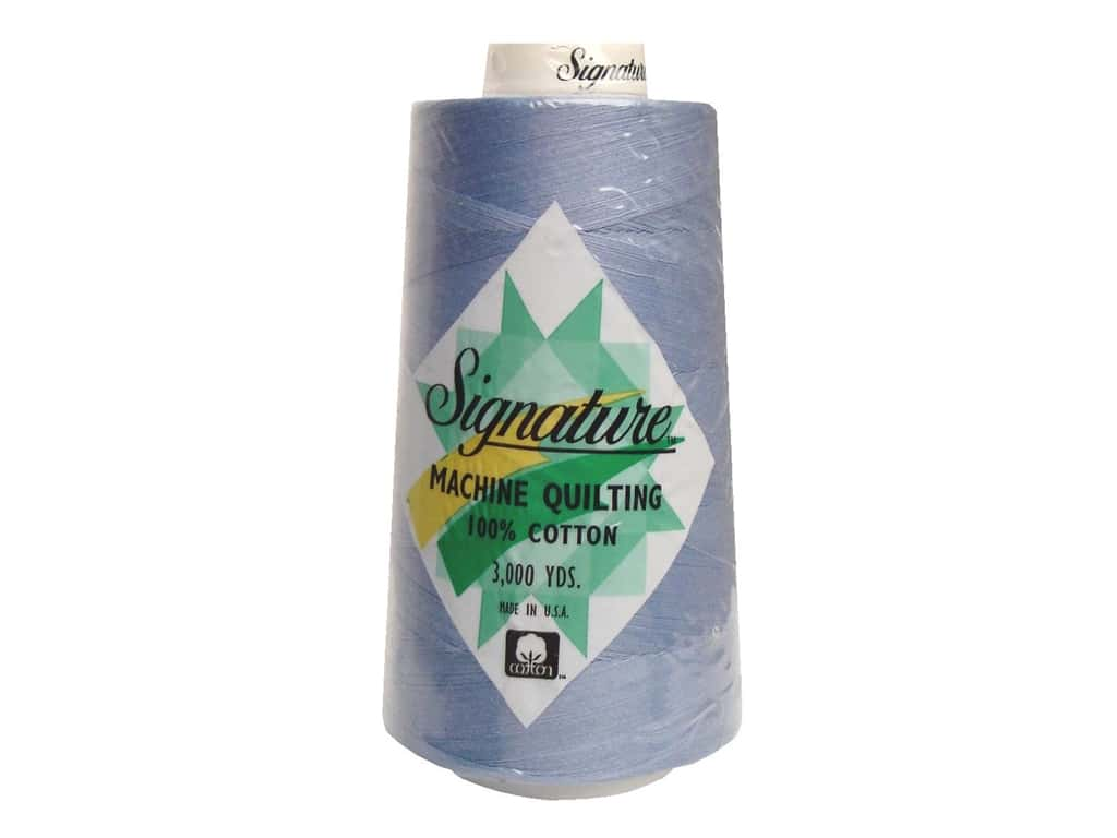 Signature 100% Cotton Thread 3000 yd. #406 Iced Blue