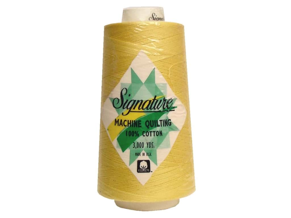 Signature 100% Cotton Thread 3000 yd. #630 Buttercup
