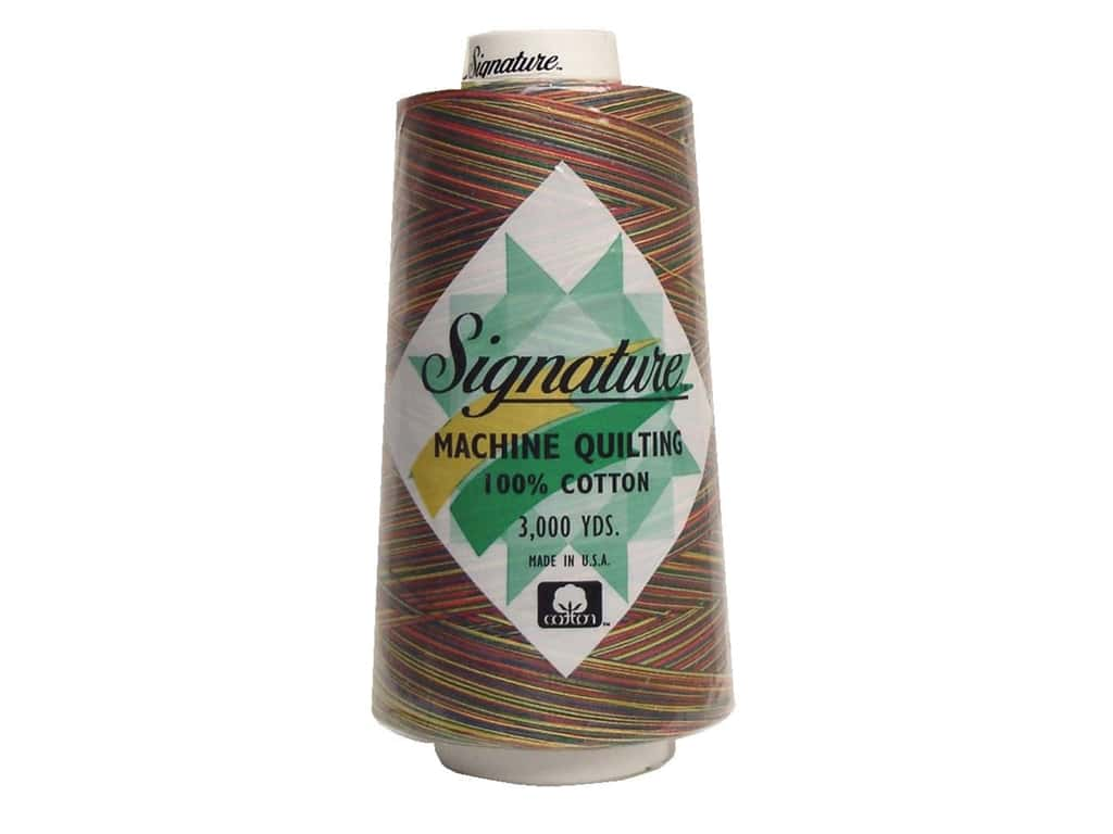 Signature 100% Cotton Thread 3000 yd. #M01 Variegated Brights