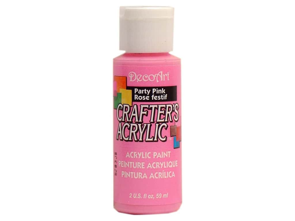 DecoArt Crafter's Acrylic Paint 2 oz. #98 Party Pink