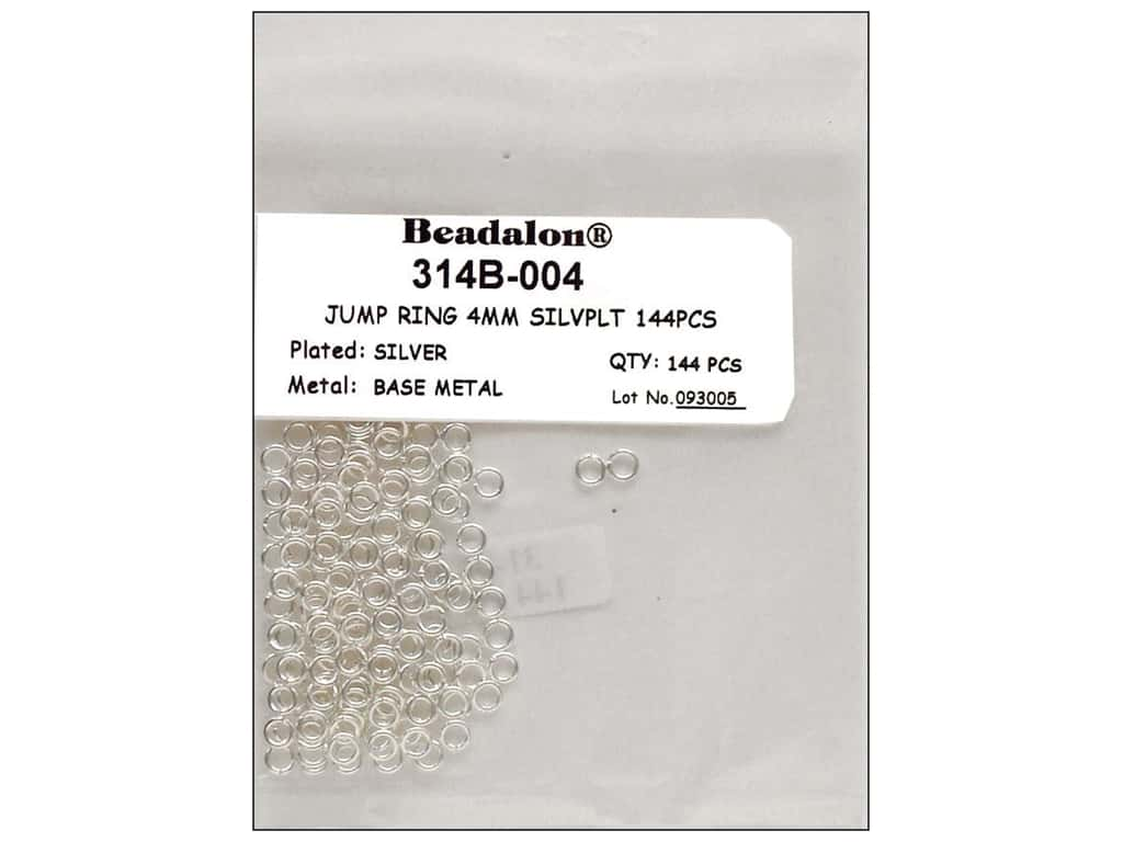 Beadalon Jump Rings 4 mm Silver 144 pc.