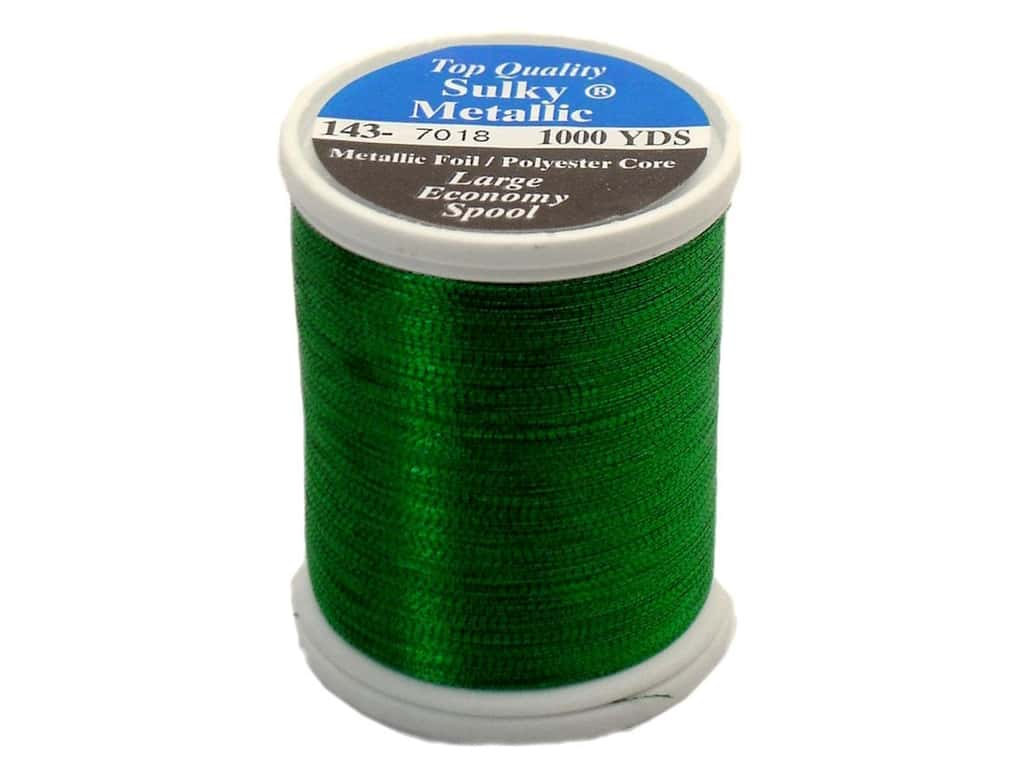 Sulky Original Metallic Thread 1000 yd. #7018 Christmas Green