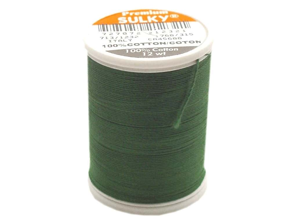 Sulky Cotton Thread 12 wt. 330 yd. #1232 Classic Green