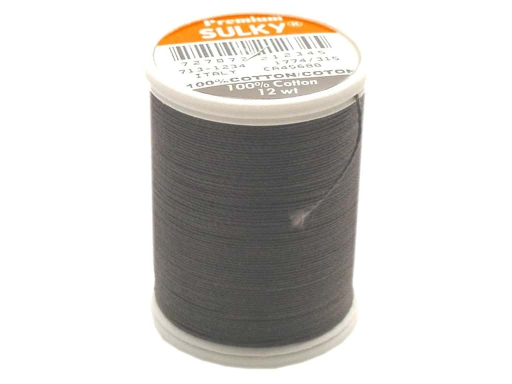 Sulky Cotton Thread 12 wt. 330 yd. #1234 Almost Black