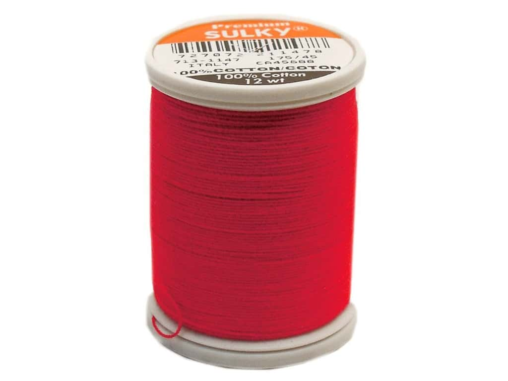 Sulky Cotton Thread 12 wt. 330 yd. #1147 Christmas Red