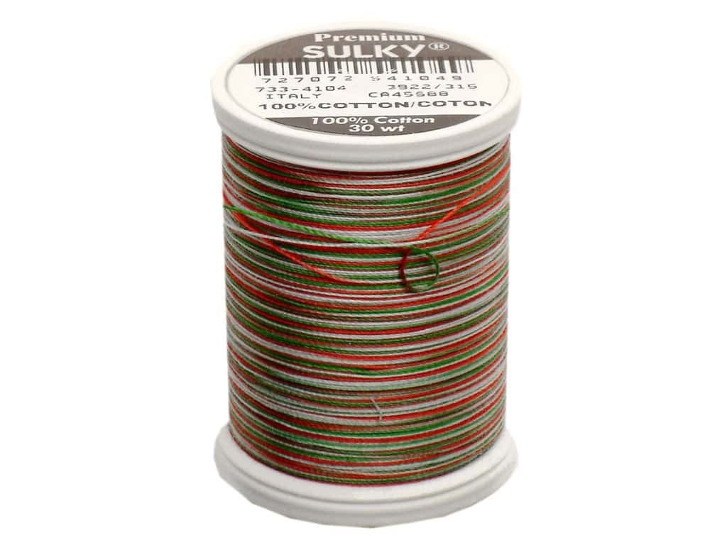 Sulky Blendables Cotton Thread 30 wt. 500 yd. #4104 Christmas Trio