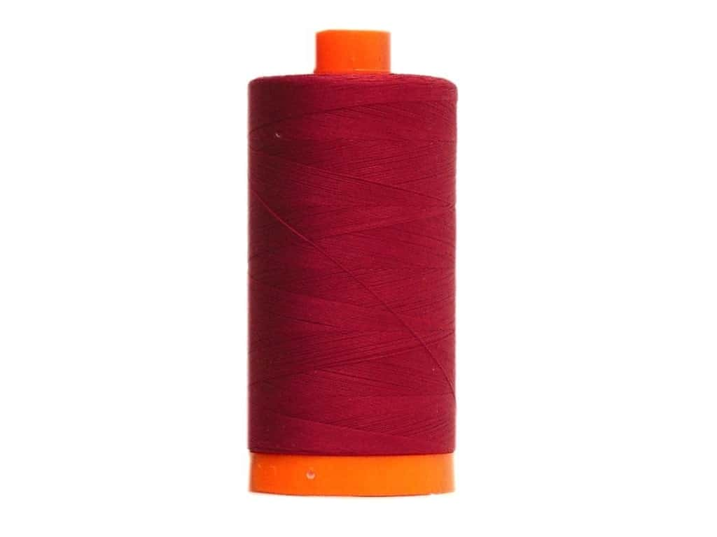 Aurifil Mako Cotton Quilting Thread 50 wt. #2460 Dark Carmine Red 1420 yd.