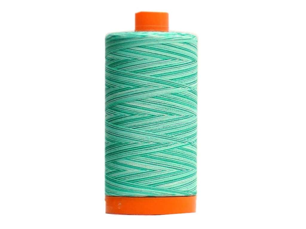 Aurifil Mako Cotton Quilting Thread 50 wt. #4654 Variegated Seamist 1420 yd.