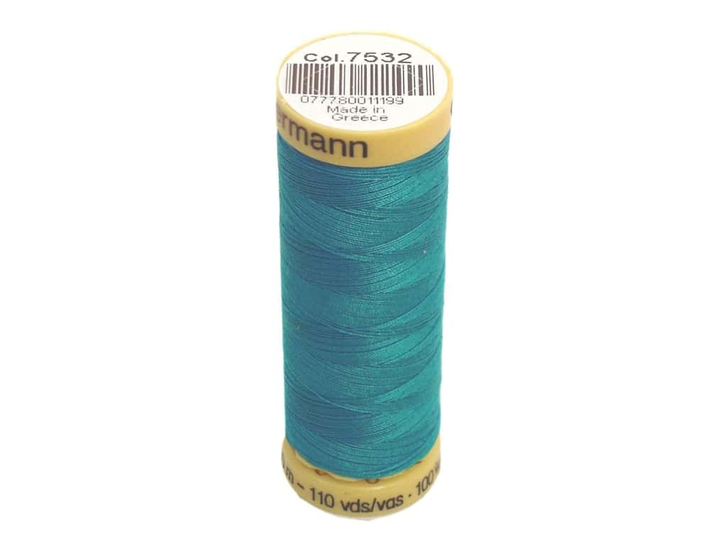 Gutermann 100% Natural Cotton Sewing Thread 109 yd. #7532 Turquoise