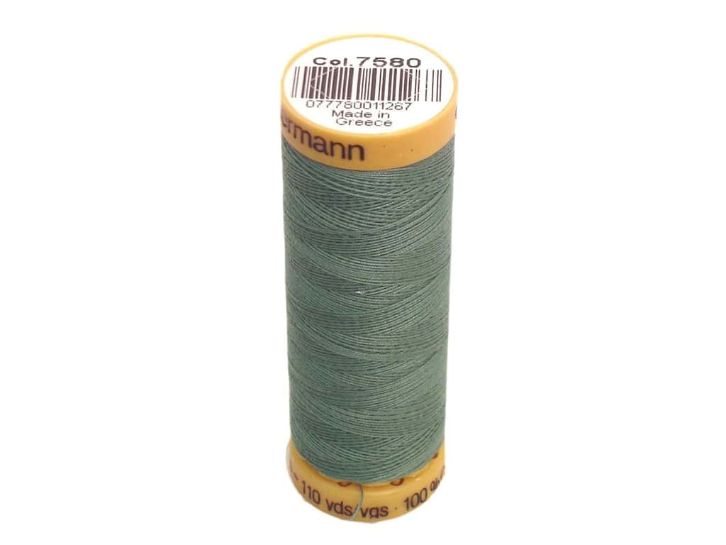 Gutermann 100% Natural Cotton Sewing Thread 109 yd. #7580 Silver Sage