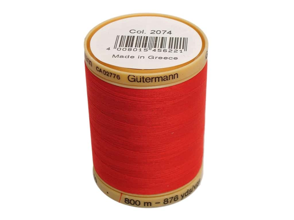 Gutermann 100% Natural Cotton Sewing Thread 875 yd. #2074 Red