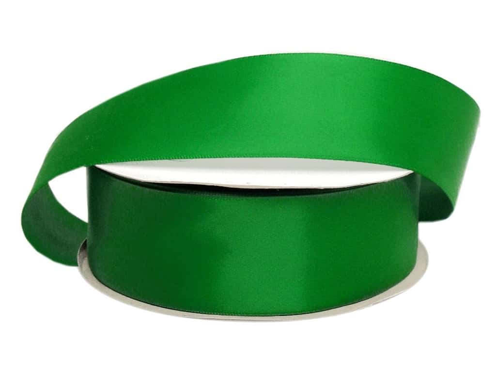 Offray Double Face Satin Ribbon 1 1/2 in. x 50 yd. Emerald (50 yards)