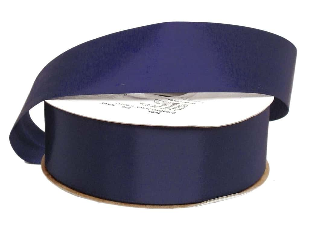 Offray Double Face Satin Ribbon 1 1/2 in. x 50 yd. Navy (50 yards)