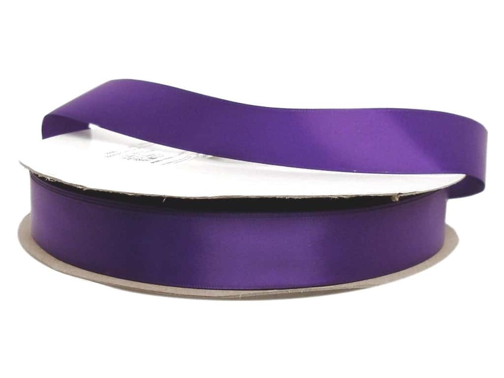Offray Double Face Satin Ribbon 7/8 in. x 100 yd. Regal Purple (100 yards)