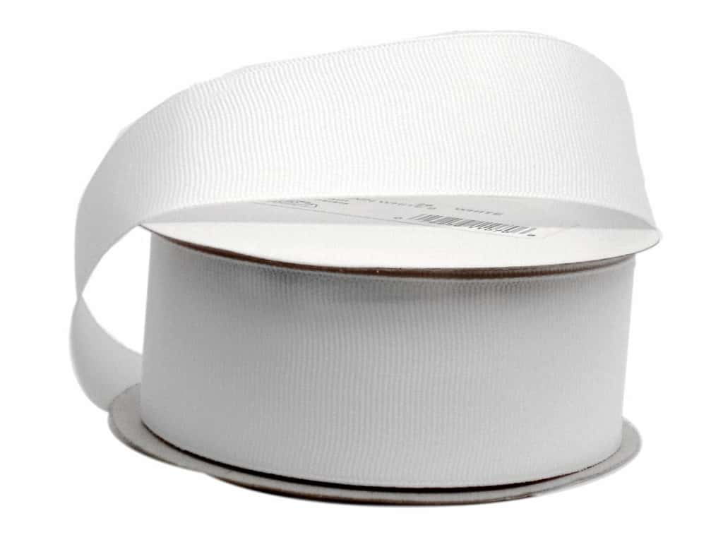 Offray Grosgrain Ribbon 1 1/2 in. x 10 yd. White (10 yards)