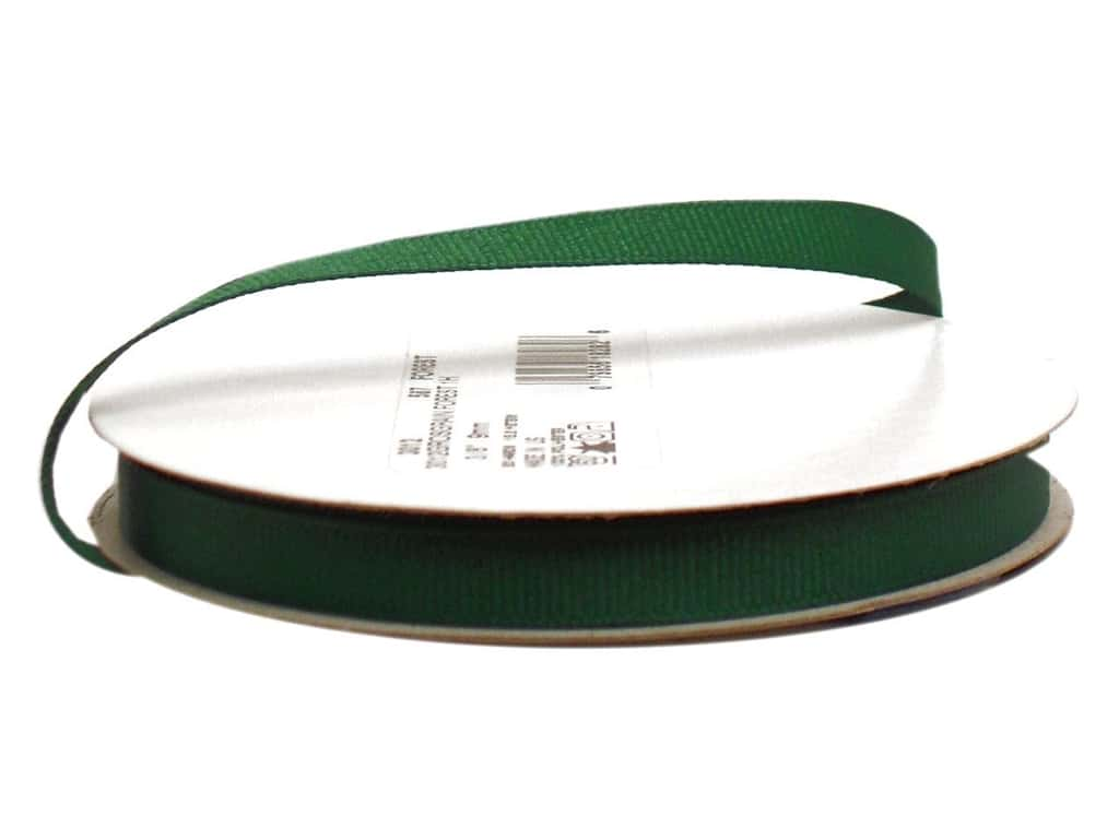 Offray Grosgrain Ribbon 3/8 in. x 20 yd. Forest Green (20 yards)