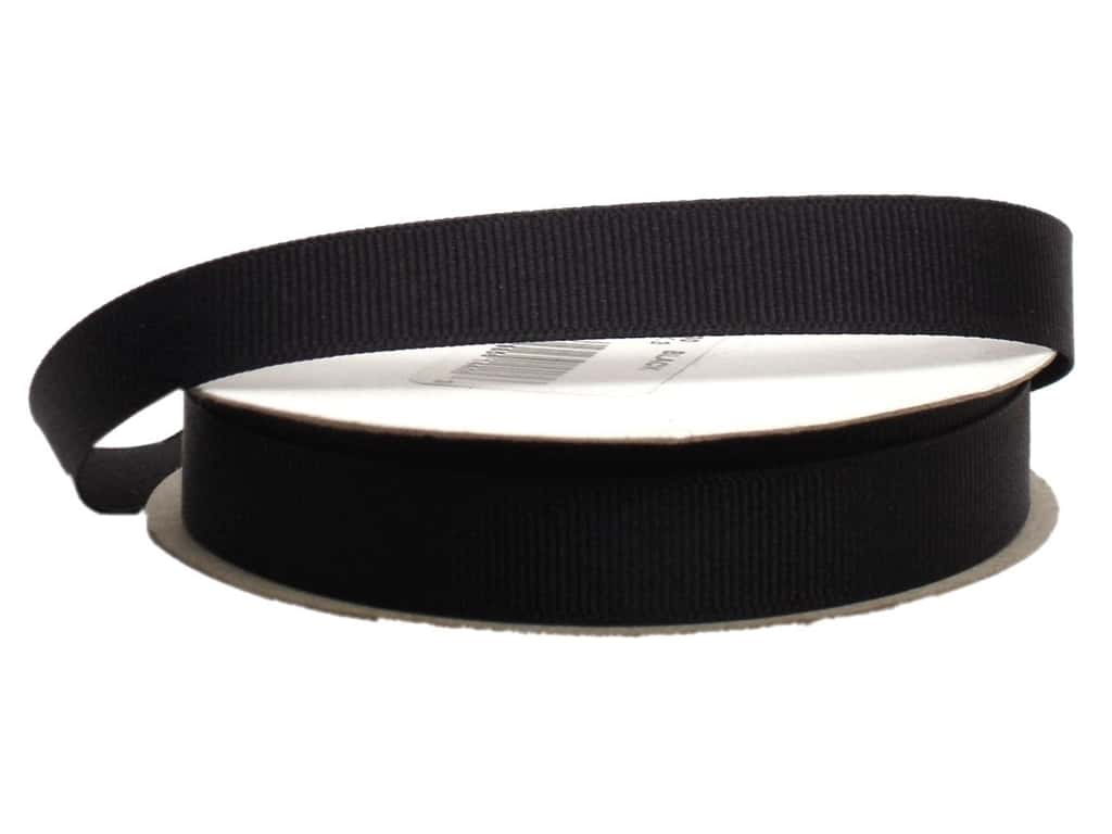 Offray Grosgrain Ribbon 5/8 in. x 20 yd. Black (20 yards)