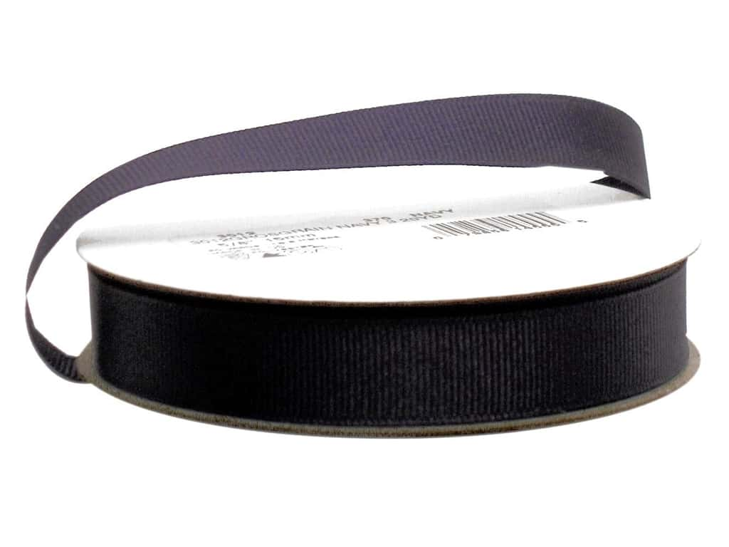 Offray Grosgrain Ribbon 5/8 in. x 20 yd. Navy (20 yards)