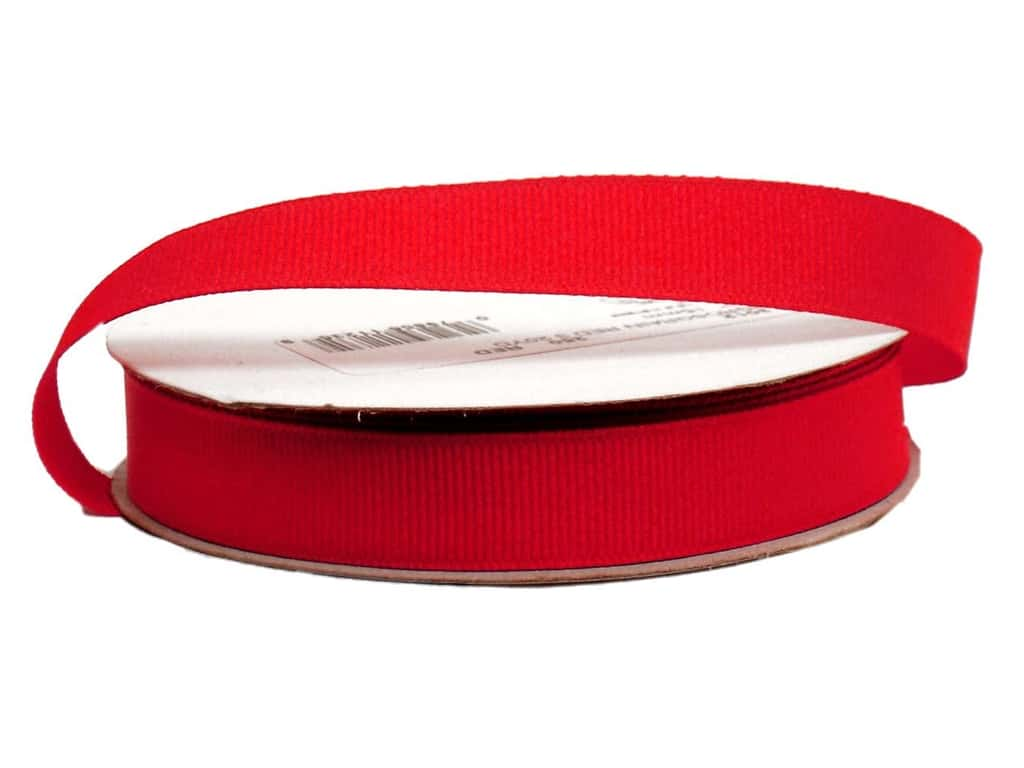 Offray Grosgrain Ribbon 5/8 in. x  20 yd. Red (20 yards)