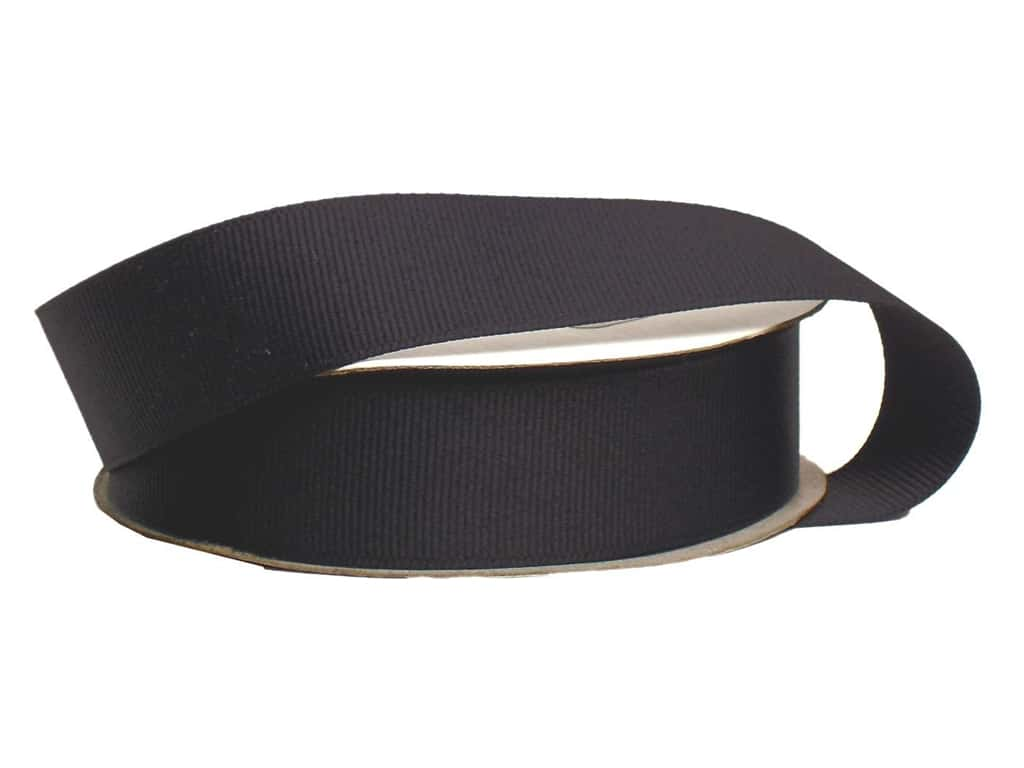Offray Grosgrain Ribbon 7/8 in. x 20 yd. Black (20 yards)