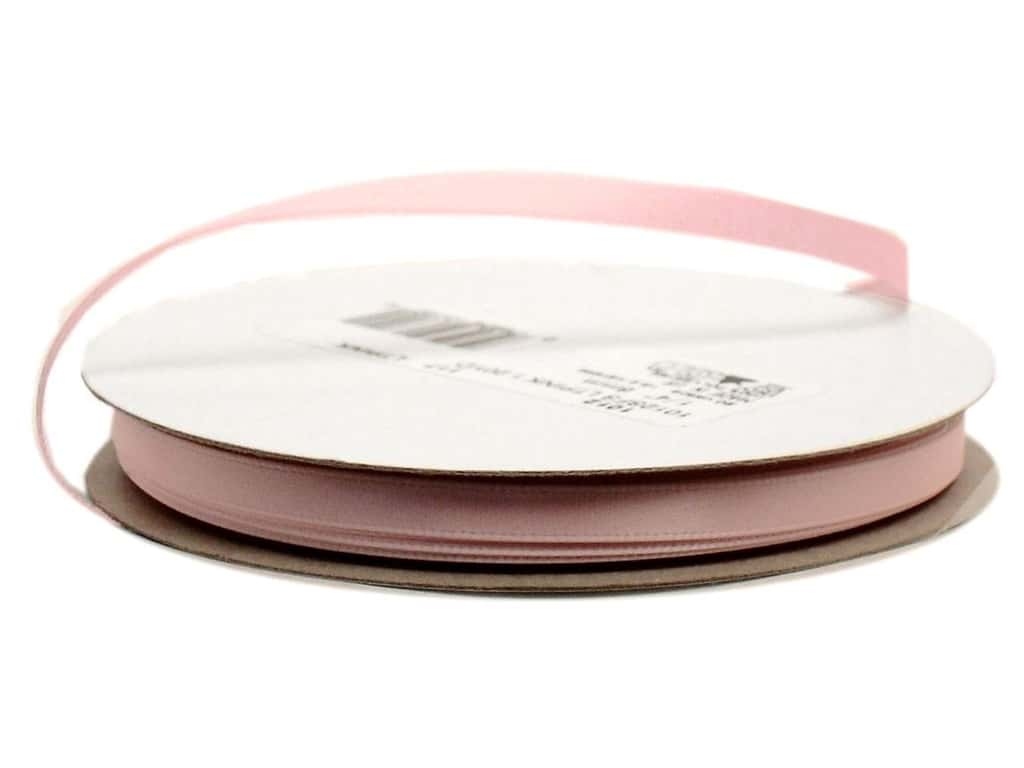 Offray Single Face Satin Ribbon 1/4 in. x 20 yd. Light Pink (20 yards)