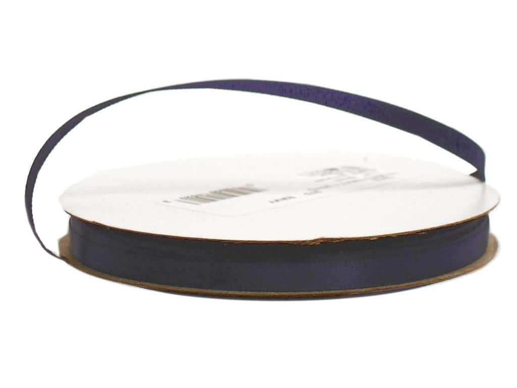 Offray Single Face Satin Ribbon 1/4 in. x 20 yd. Navy (20 yards)