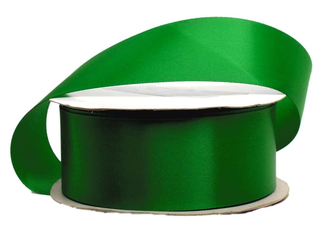 Offray Single Face Satin Ribbon 1 1/2 in. x 10 yd. Emerald (10 yards)