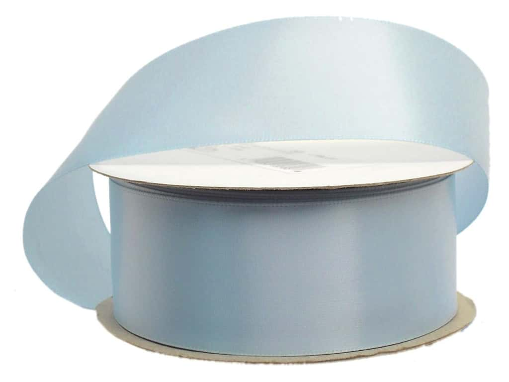 Offray Single Face Satin Ribbon 1 1/2 in. x 10 yd. Light Blue (10 yards)