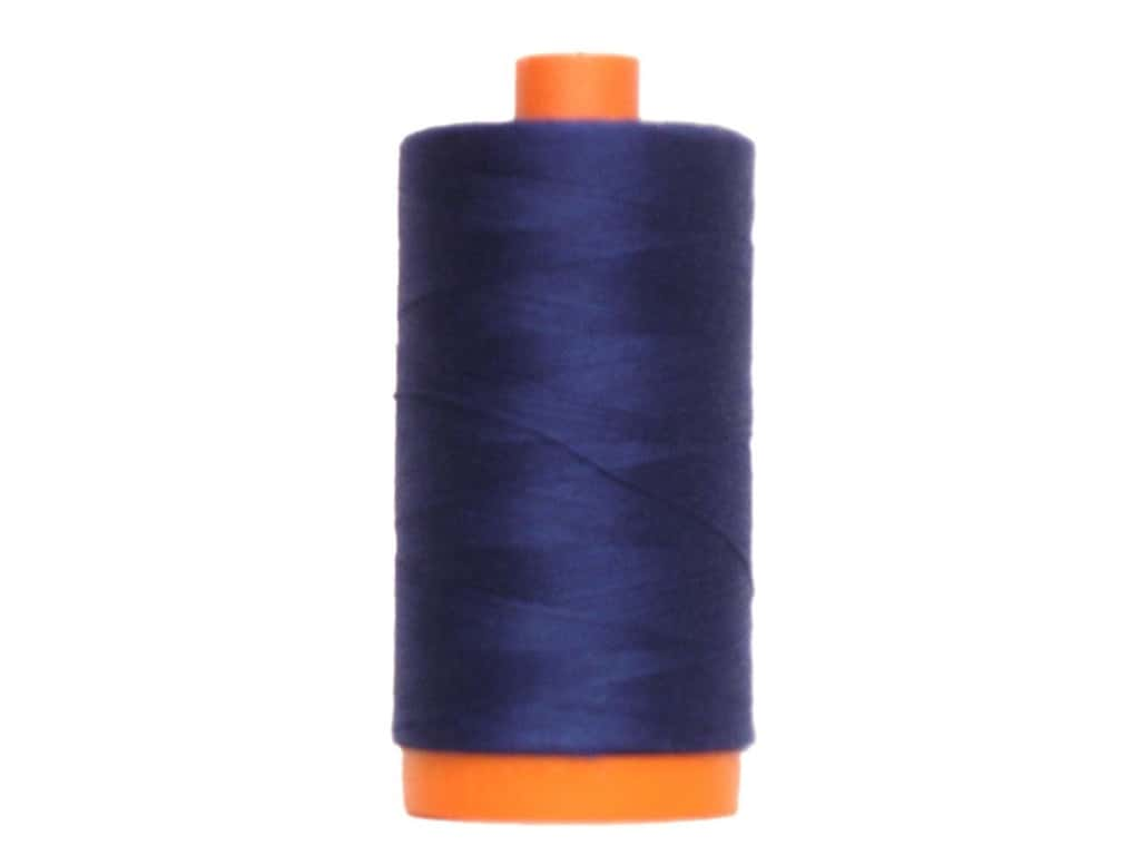 Aurifil Mako Cotton Quilting Thread 50 wt. #2784 Dark Navy 1420 yd.