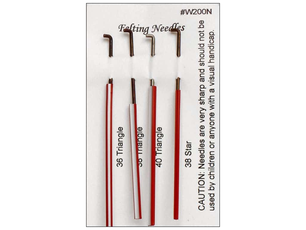 Wistyria Editions Felting Needles - Assorted 4 pc.