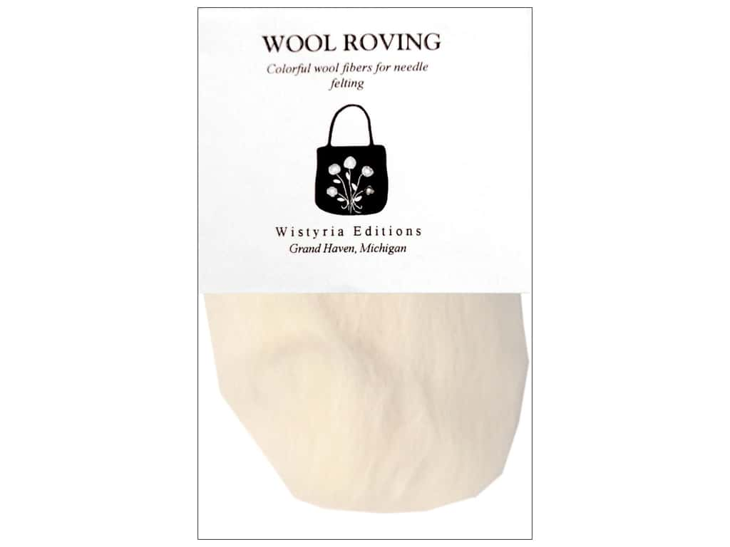 Wistyria Editions Wool Roving 12 in. Natural